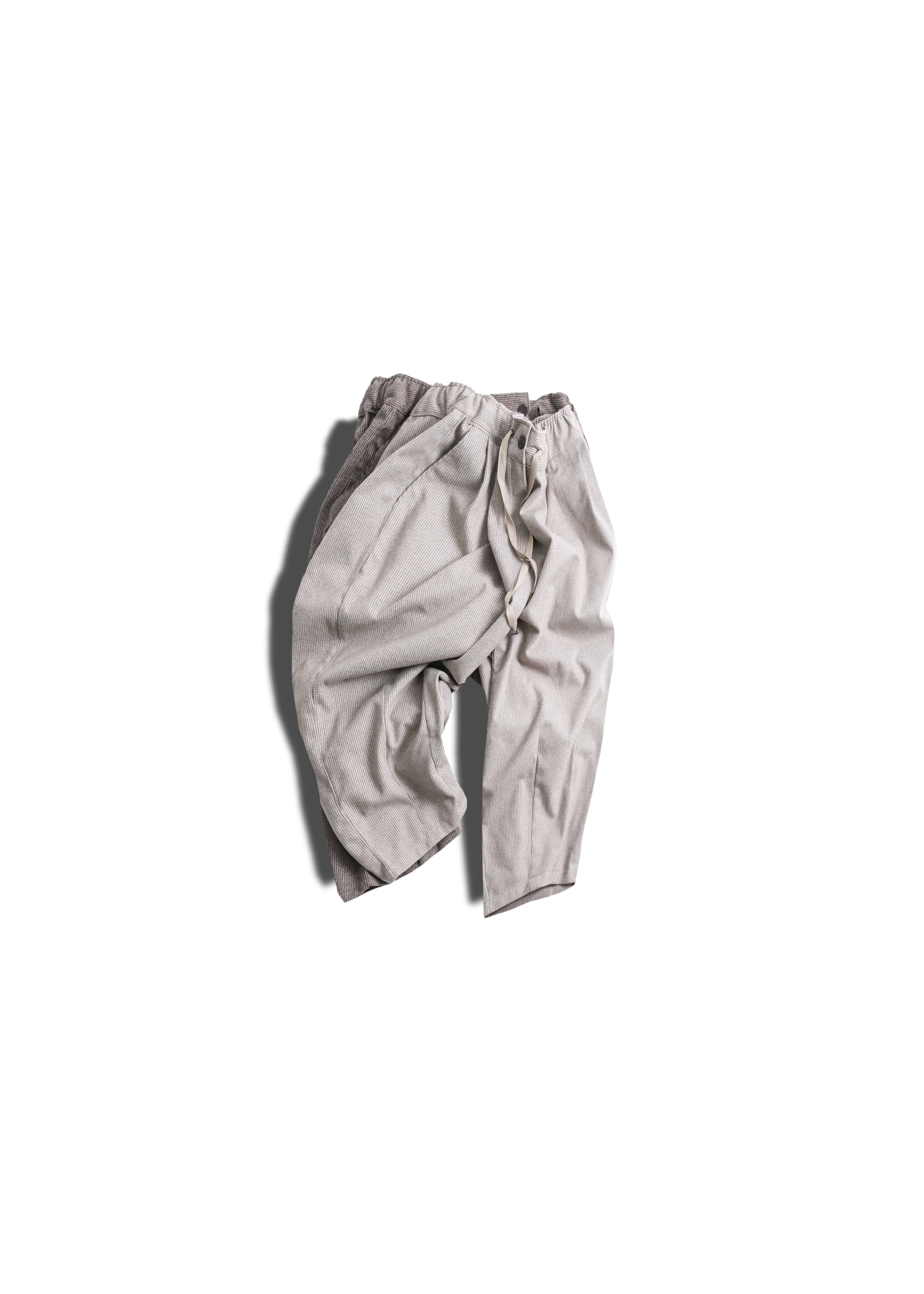 Wool Hound's Check Balloon Pants - 2color