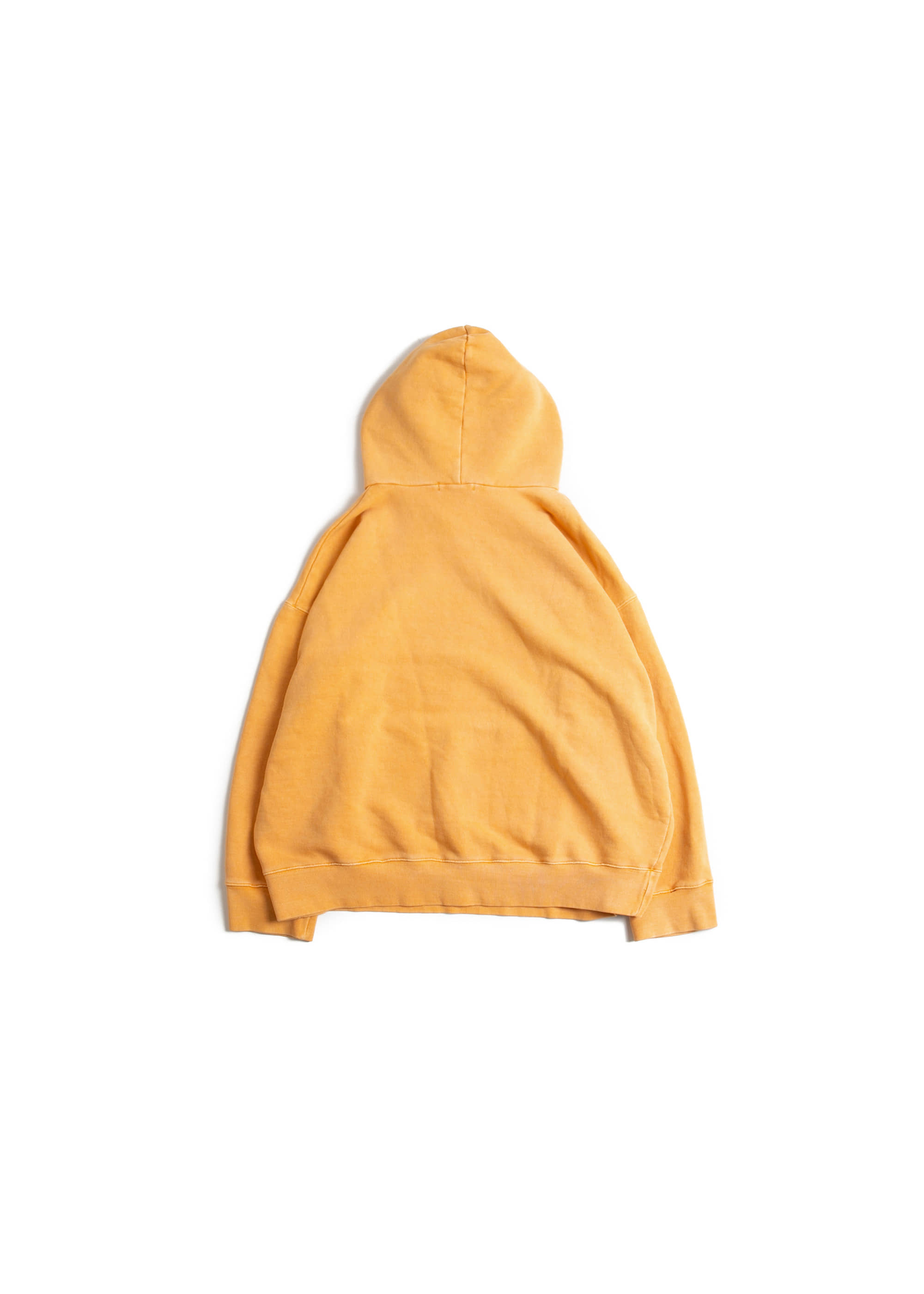 Dyeing Washing Over Hoodie - Yellow