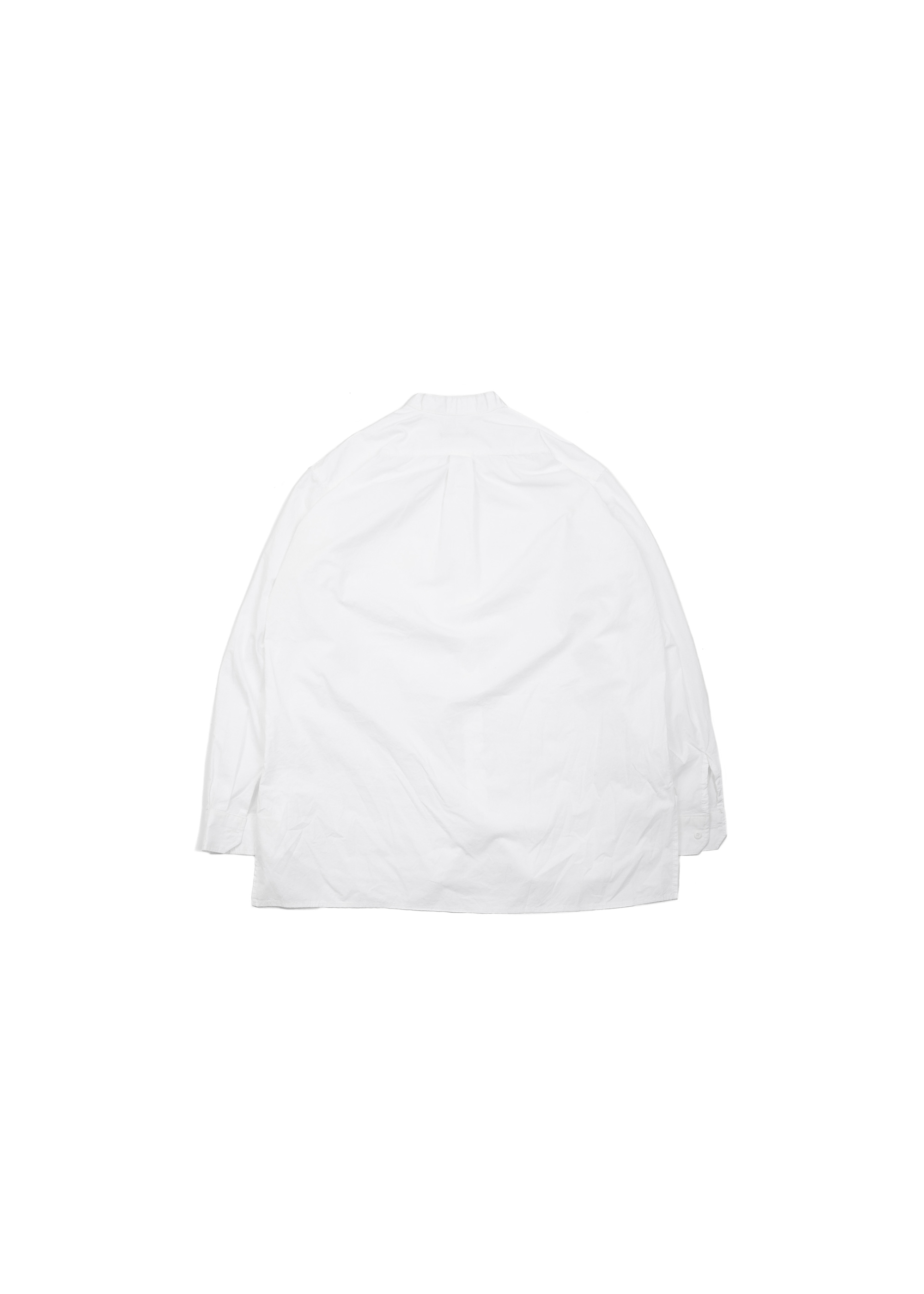 Henly Neck Over Shirts - white