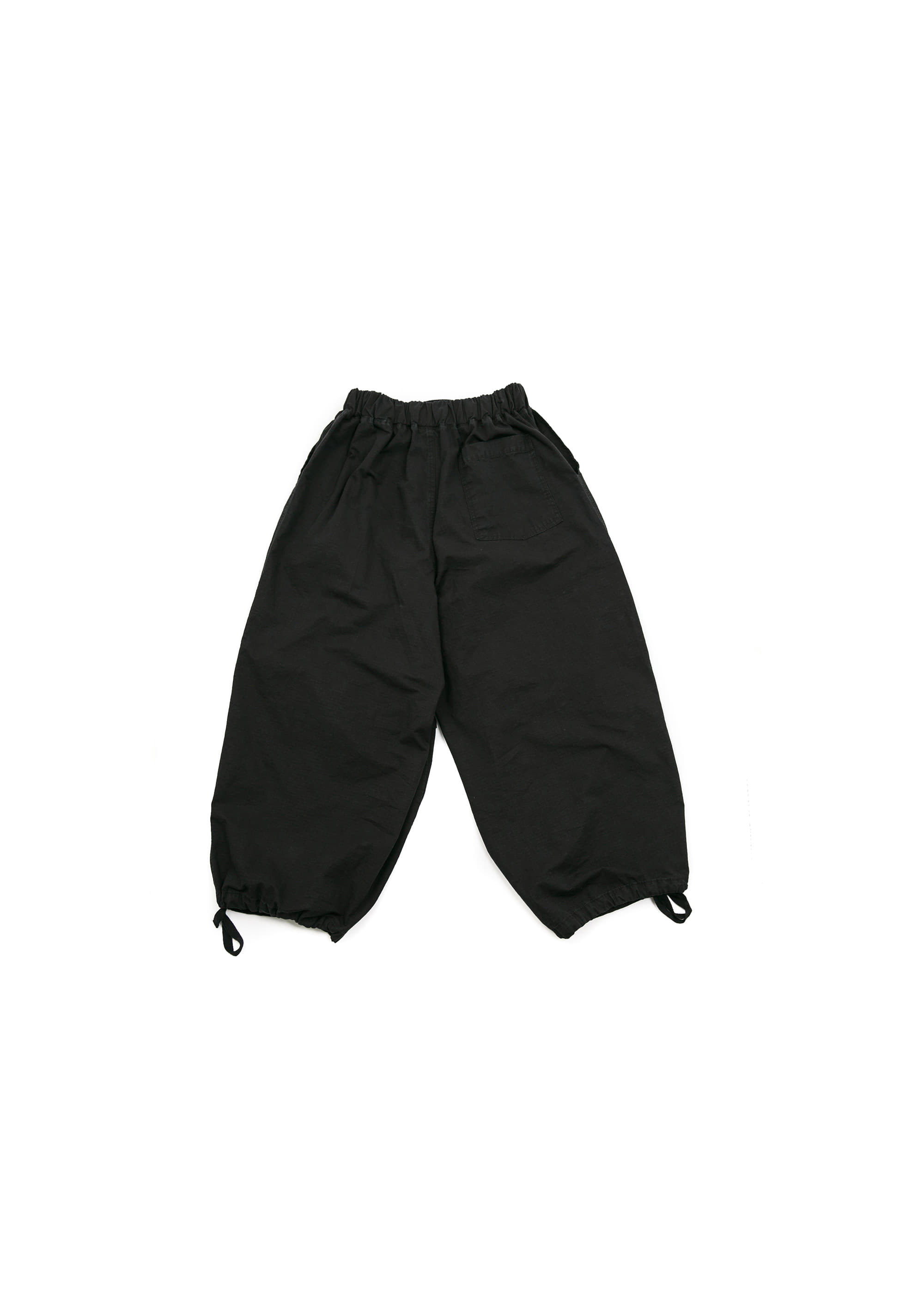 Rib Army Balloon Pants - Black