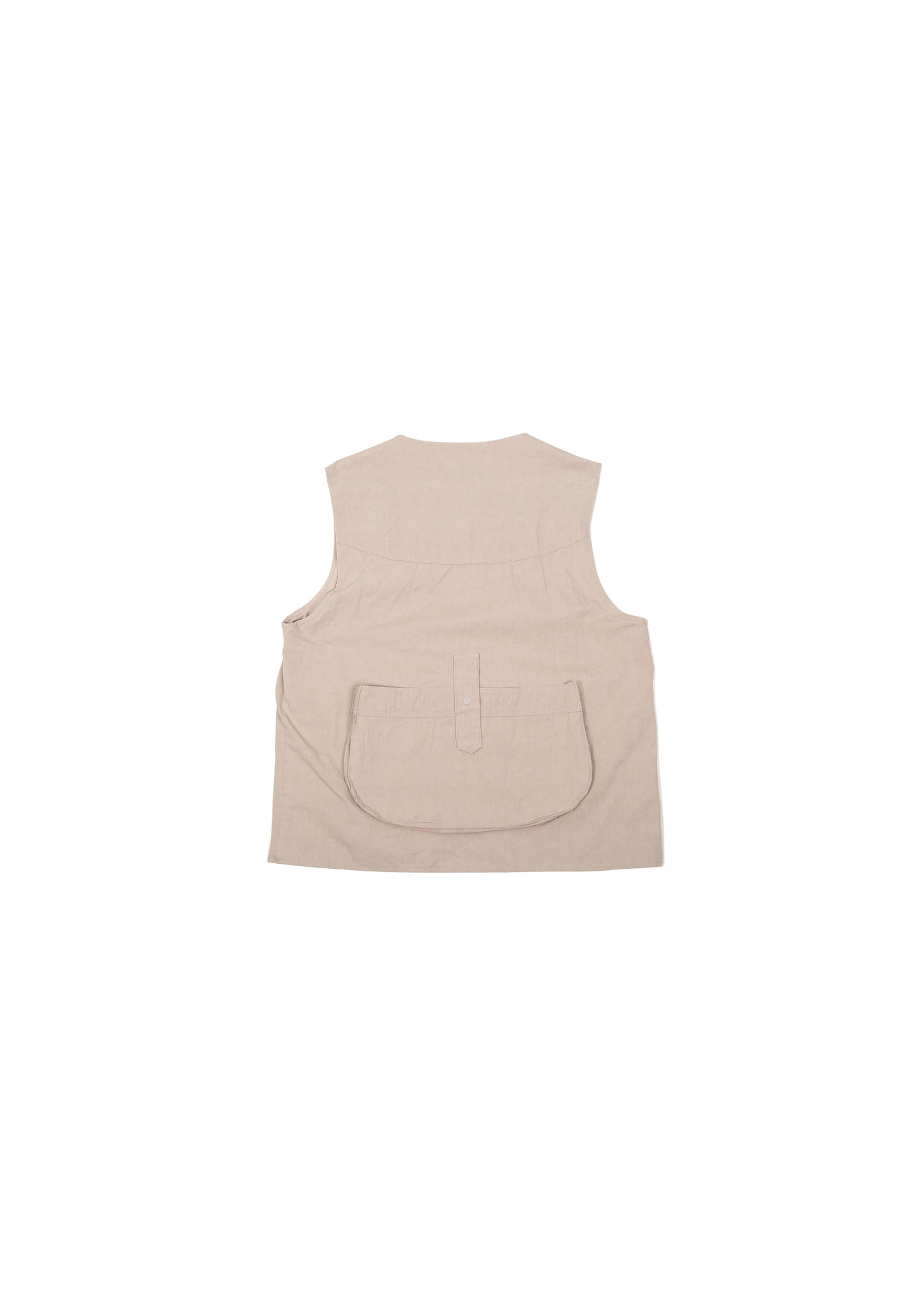 Military String Pocket Vest - Beige