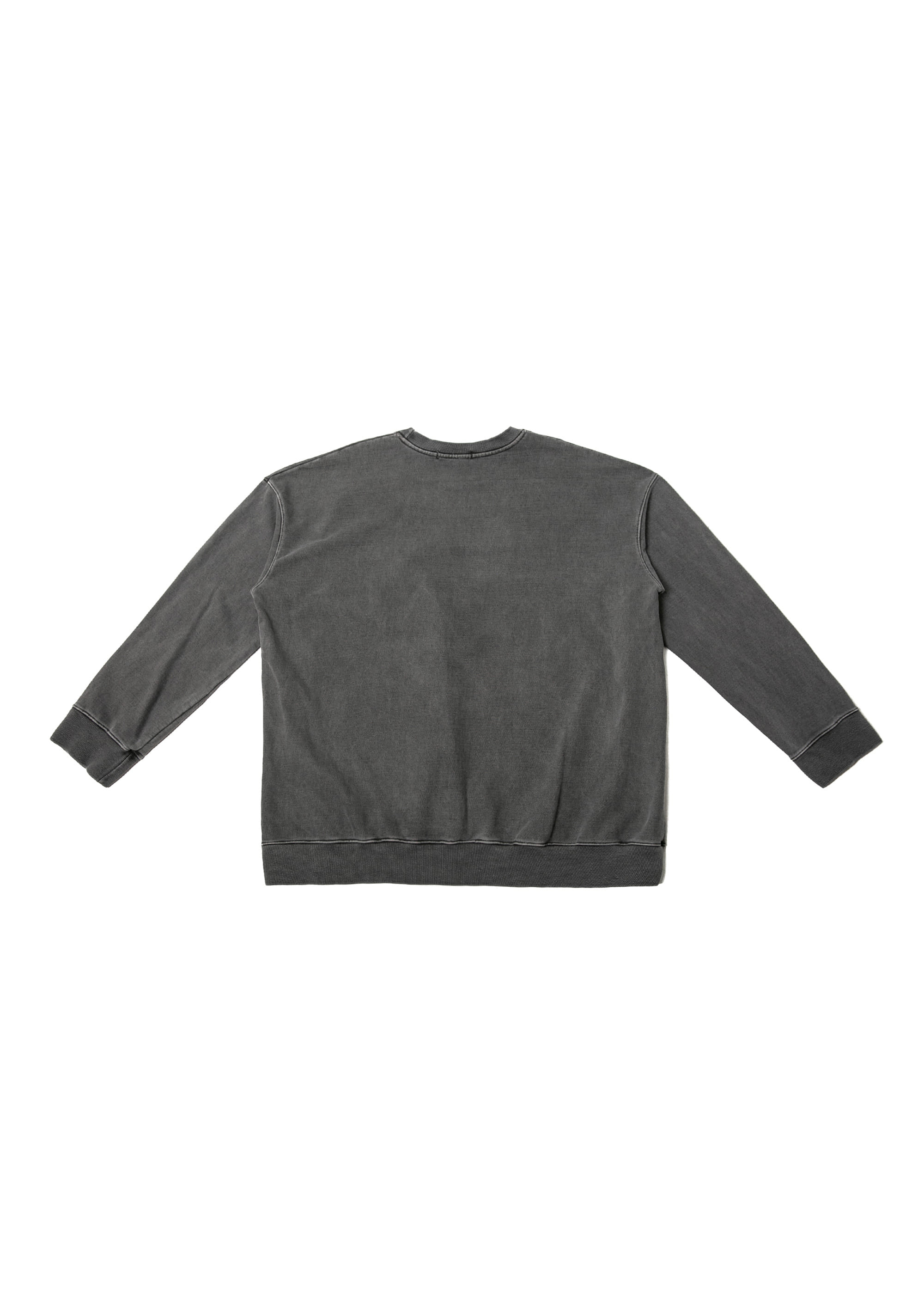 Garment dyed Over Sweat Shirts - Charcoal