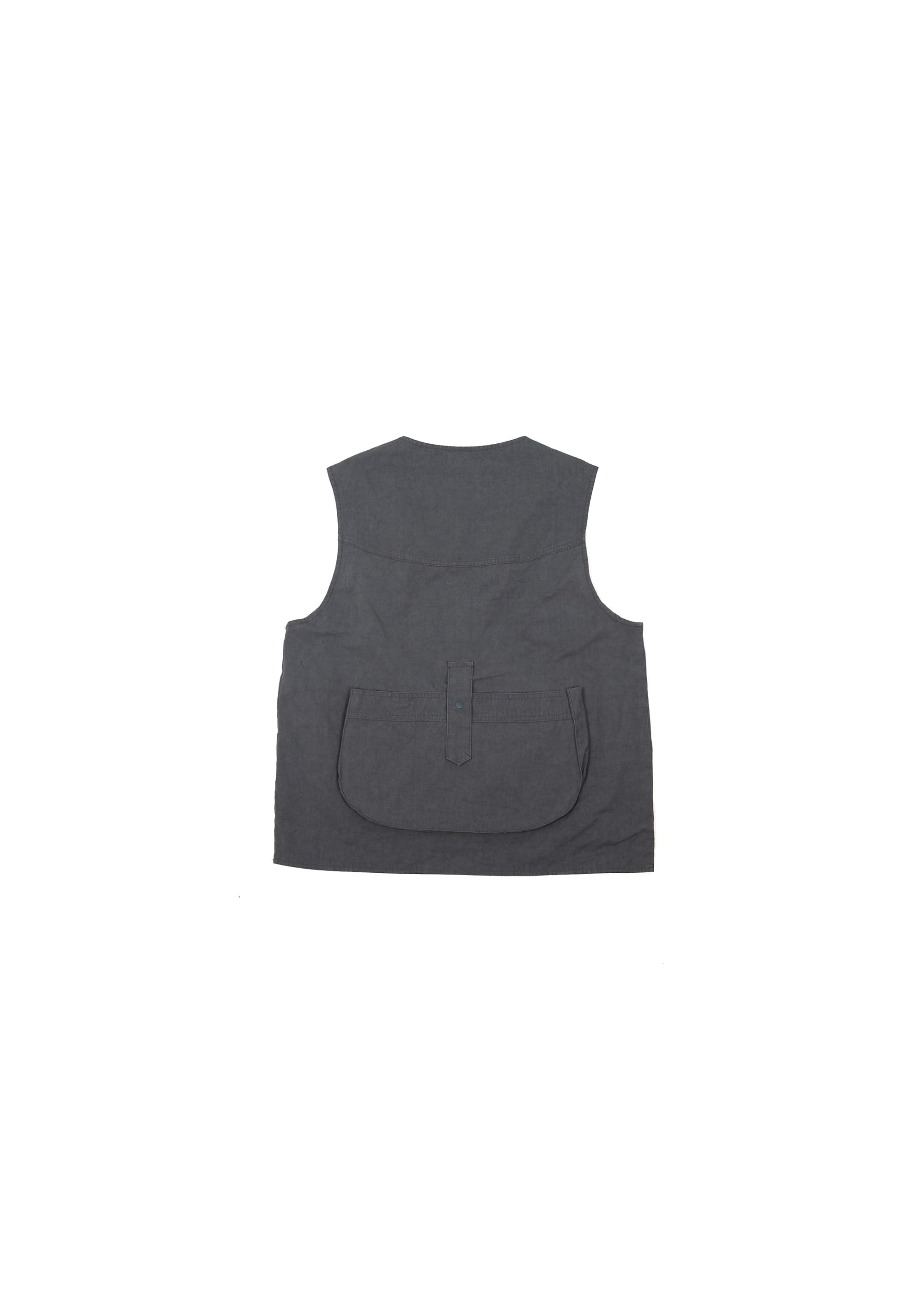 Military String Pocket Vest - Charcoal