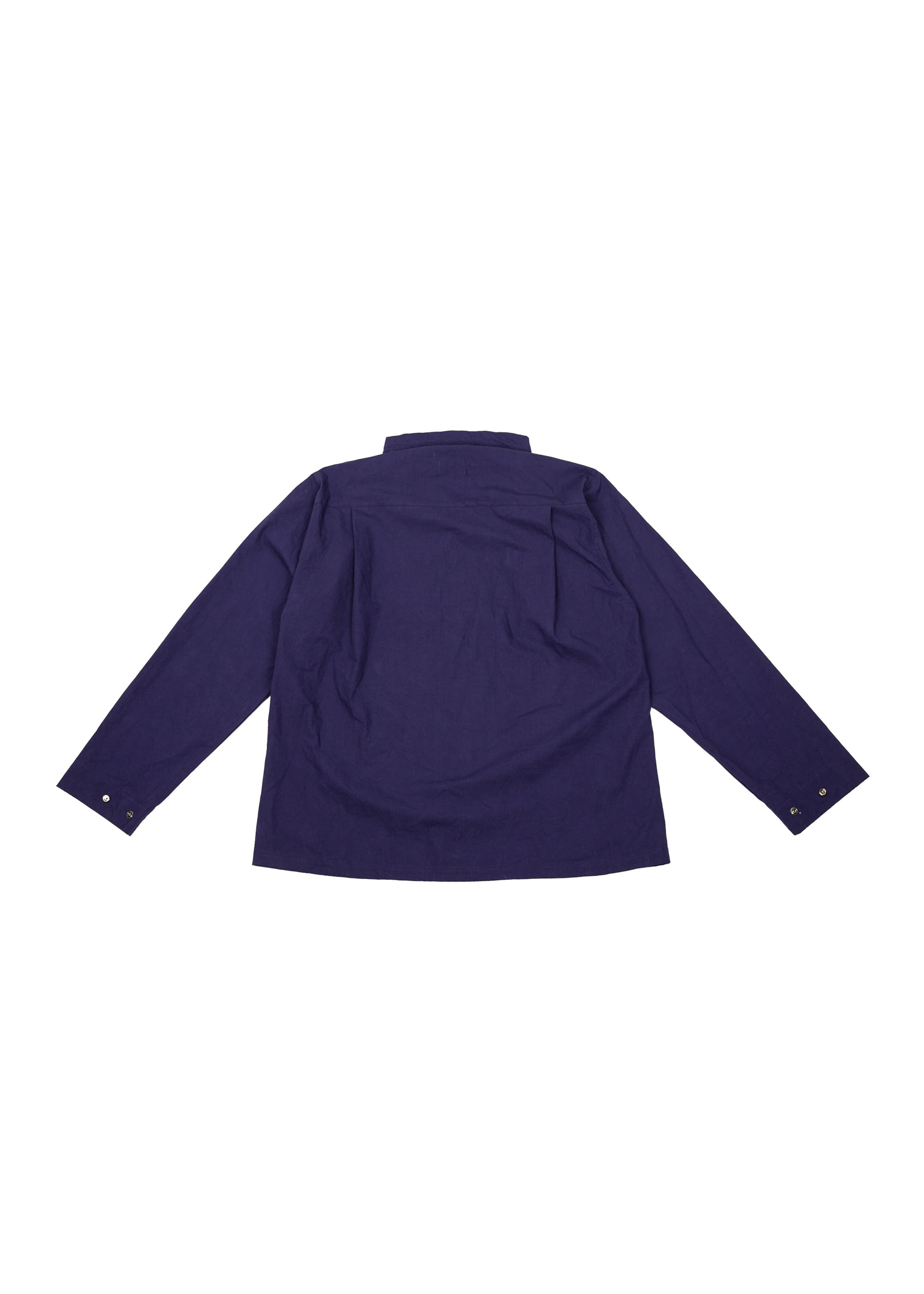 Neck String Shirts Jacket - Purple