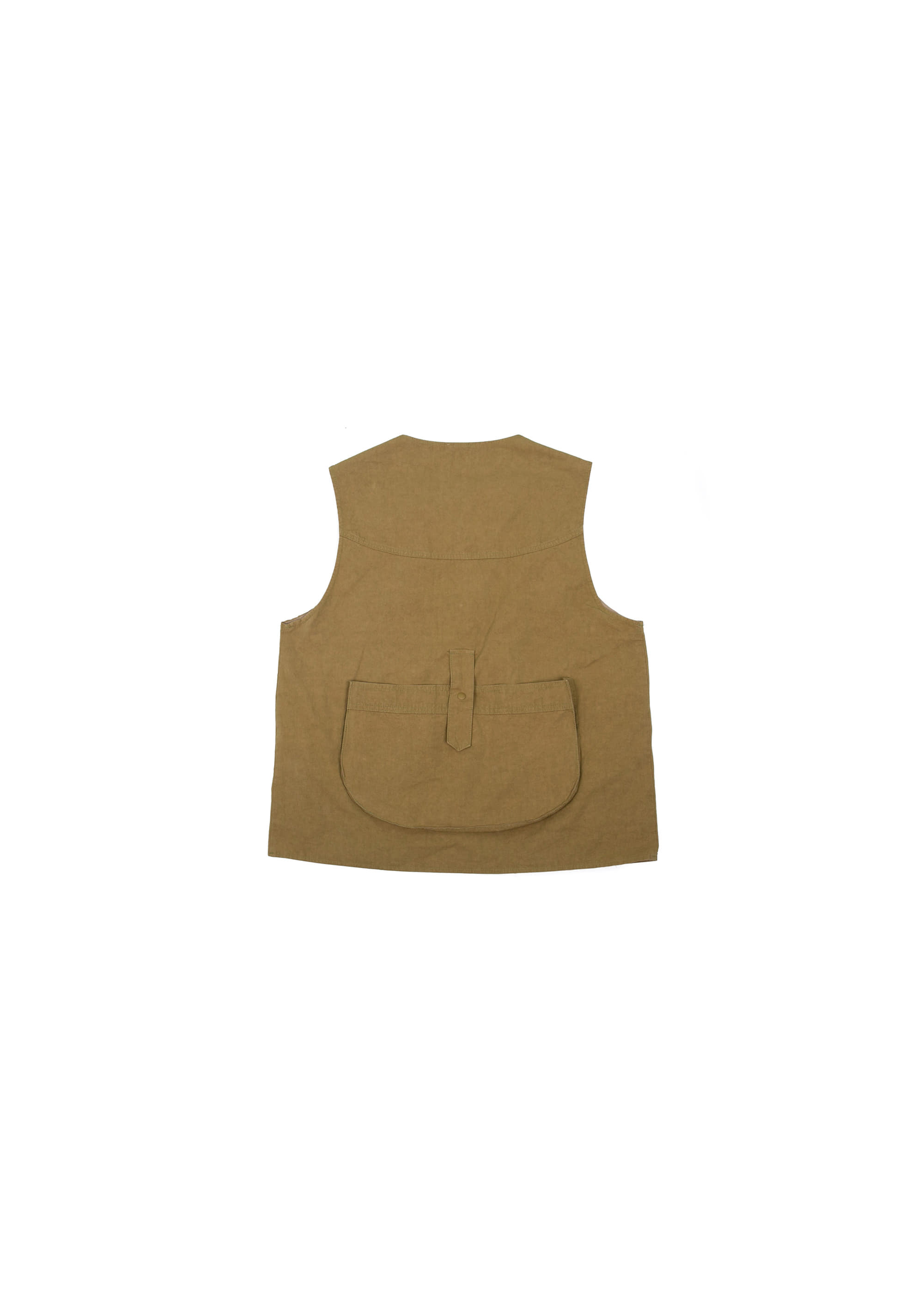 Military String Pocket Vest - Brown