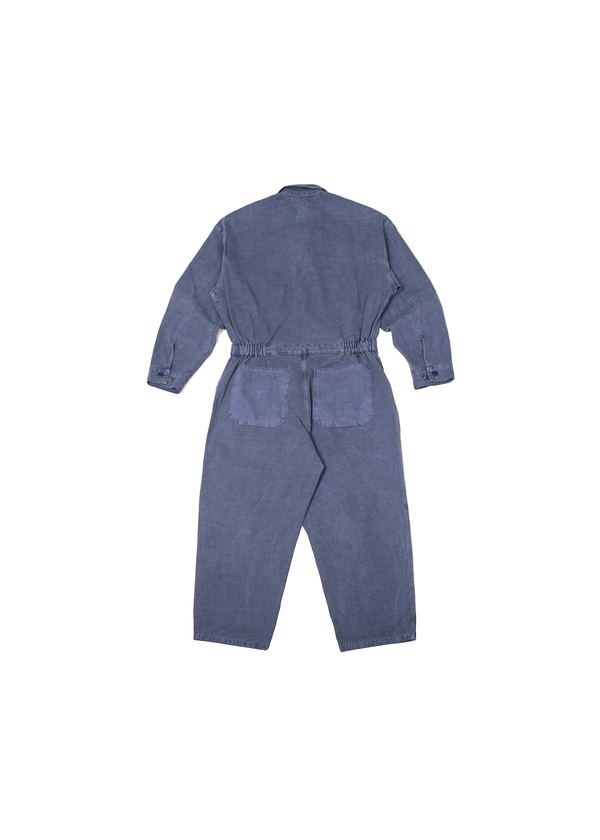Pigment Pocket Jump Suit - Blue