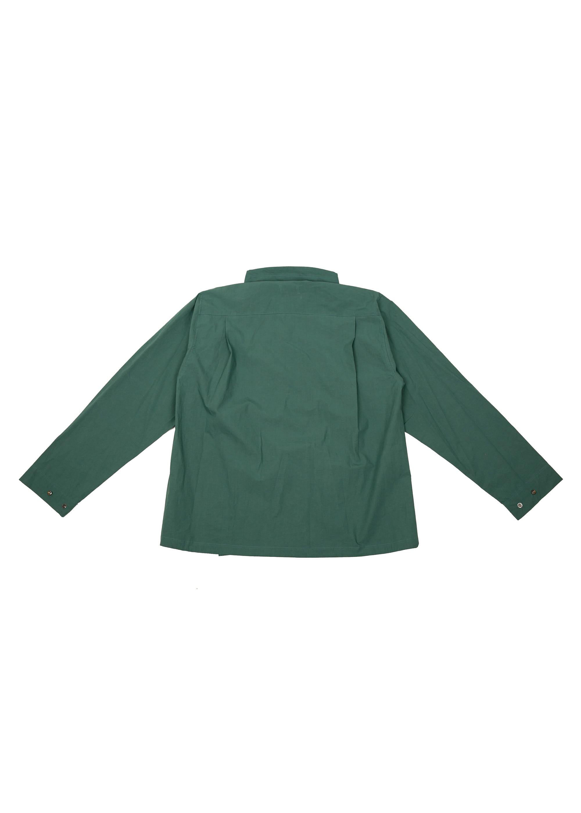 Neck String Shirts Jacket - Green