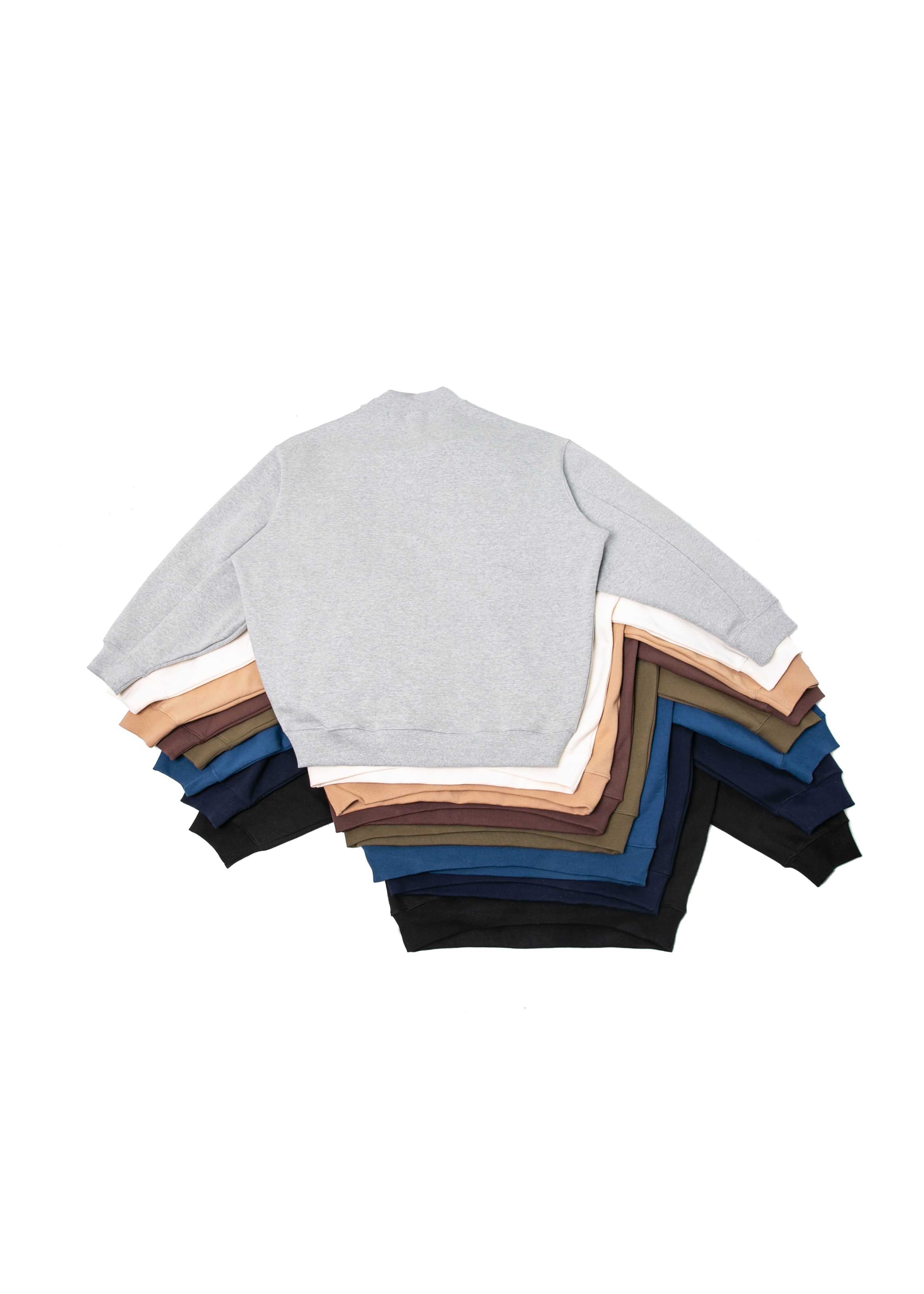 Mock Neck Over Sweat Shirts - 8 color