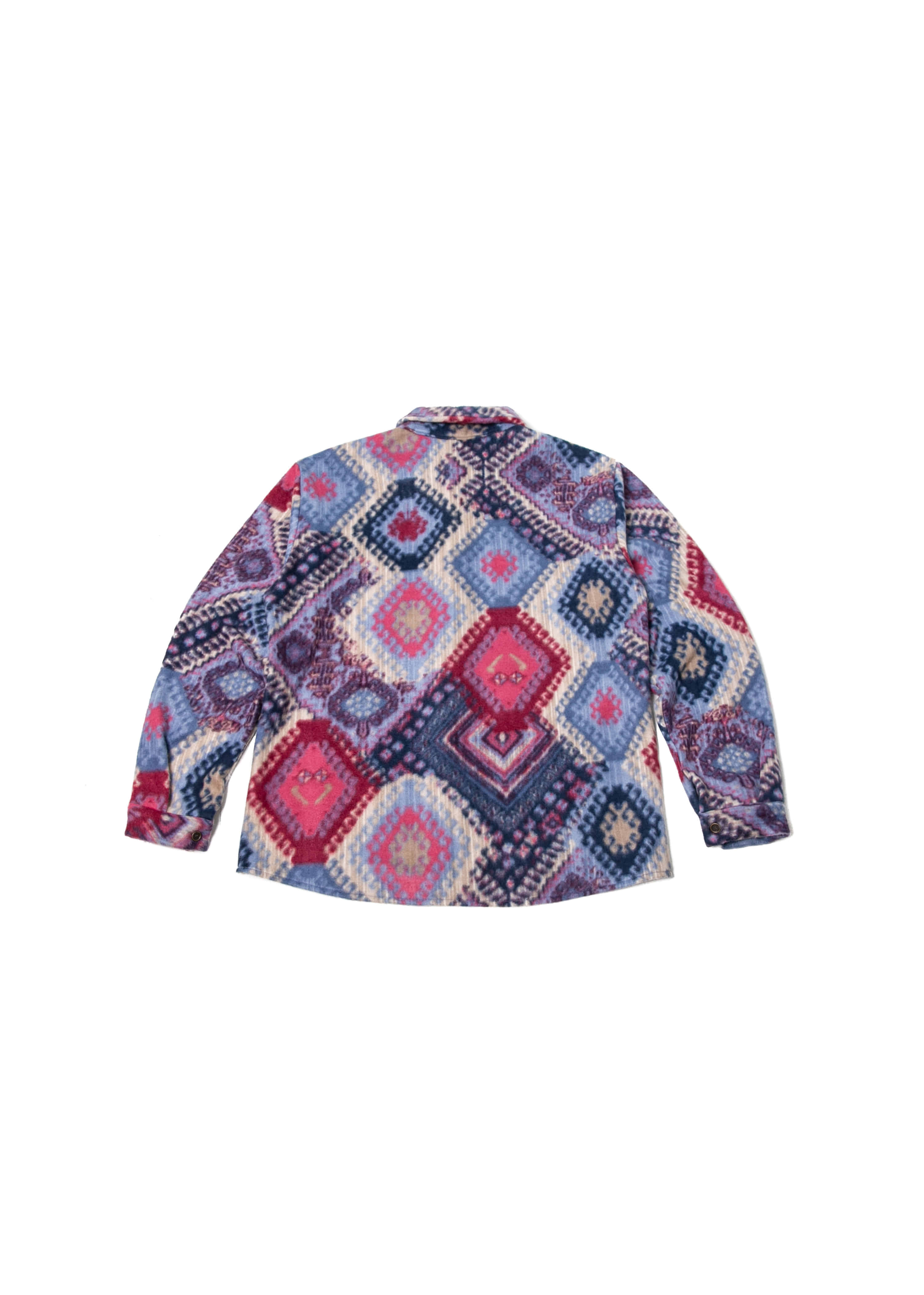 Ethnic Flannel Shirts Jacket - Blue