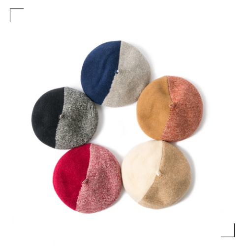 Wool Half Beret - 5color