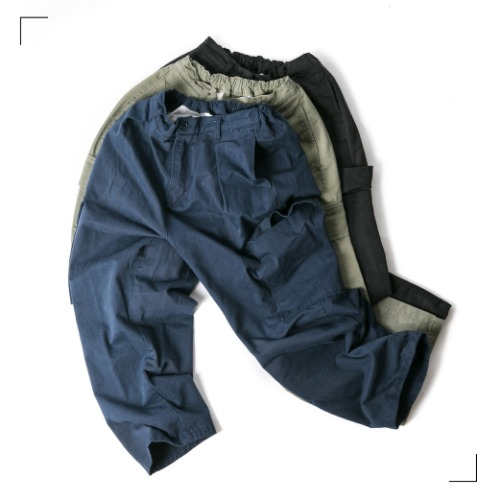 Dia Cargo Straight Pants - 3color