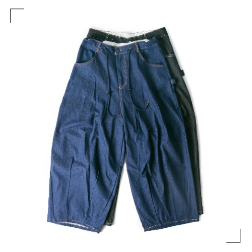 Roof Denim Balloon Pants - 2color