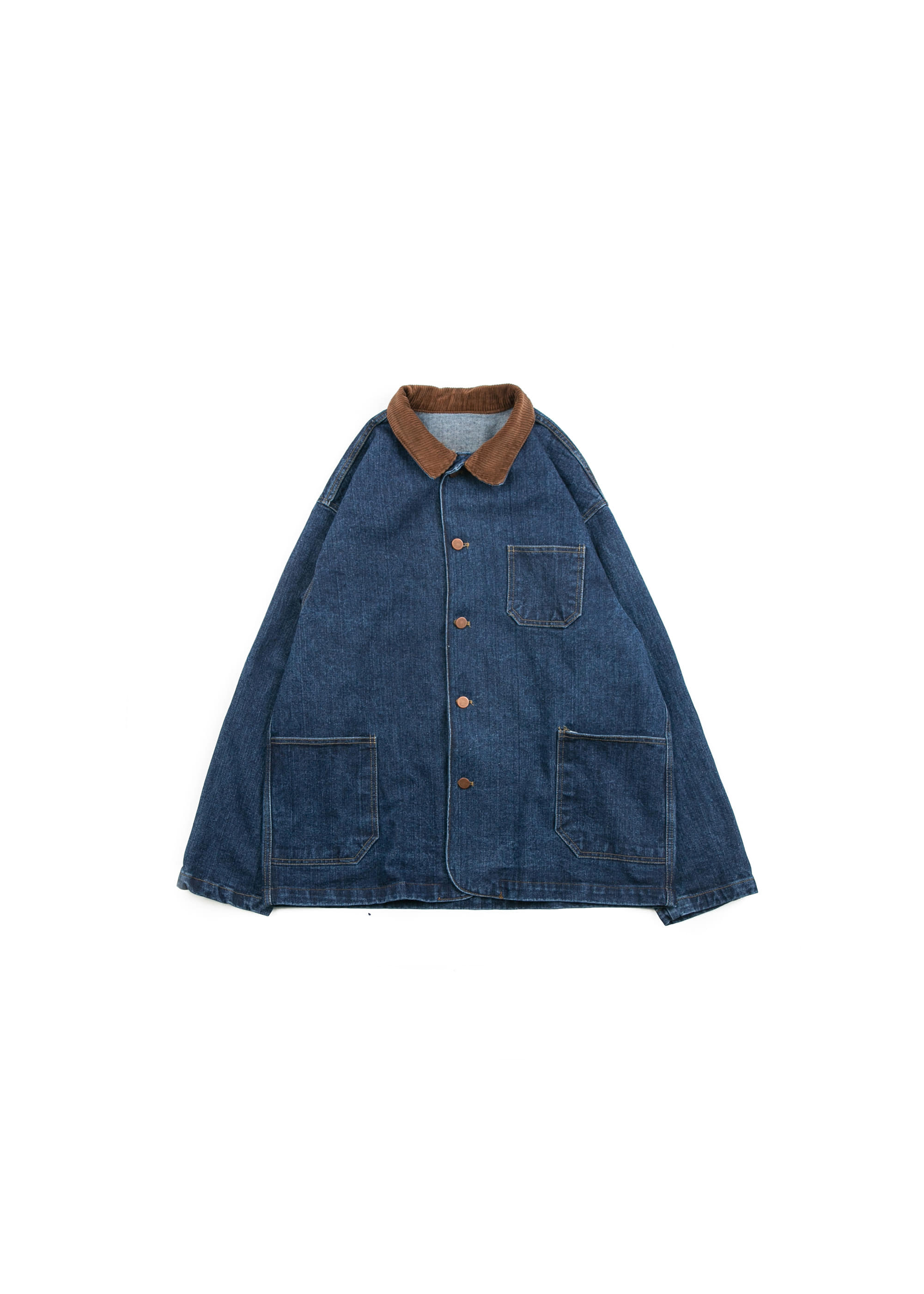 Collar Denim Coverall Jacket