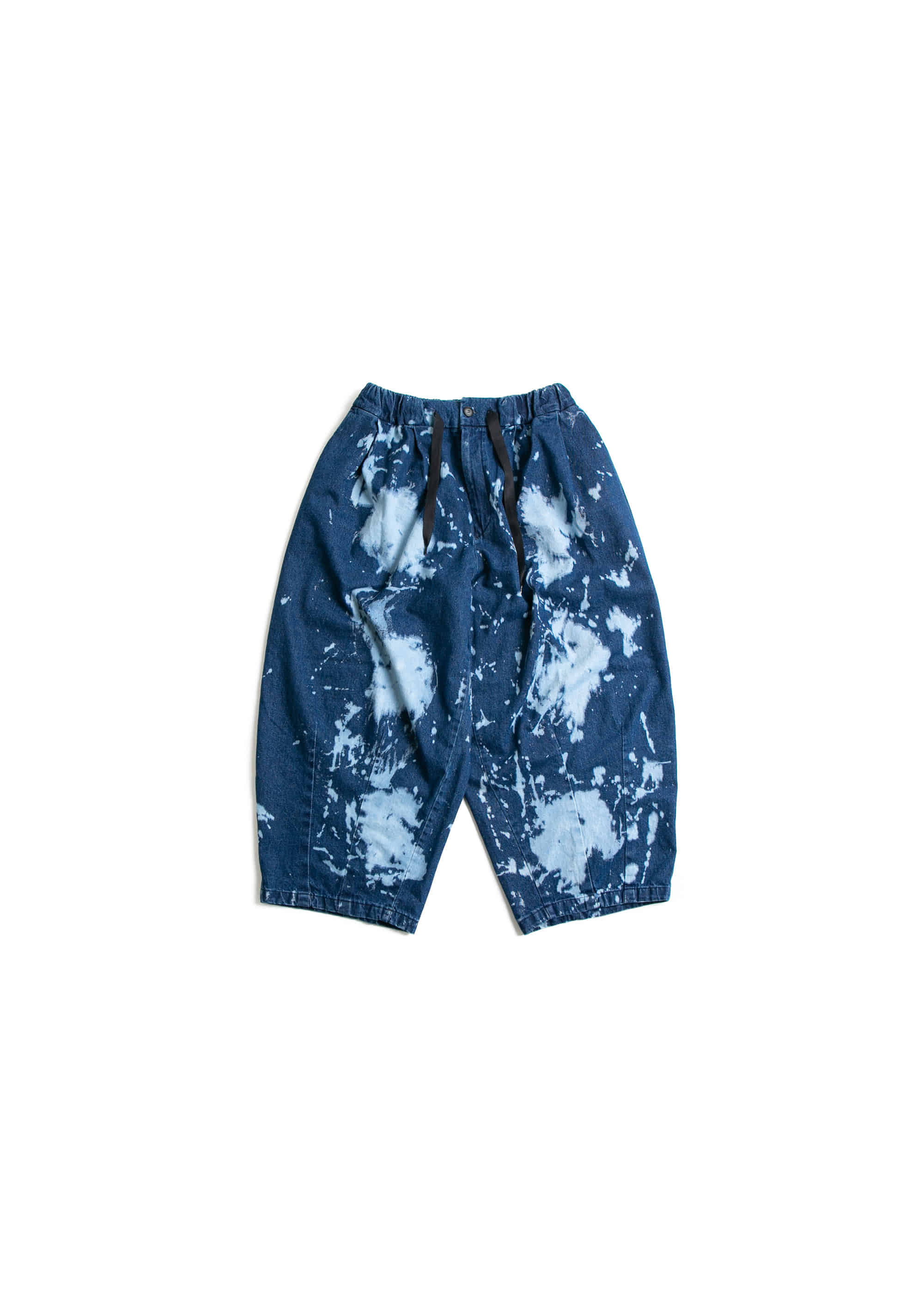 Bleach Denim Balloon Pants - Blue