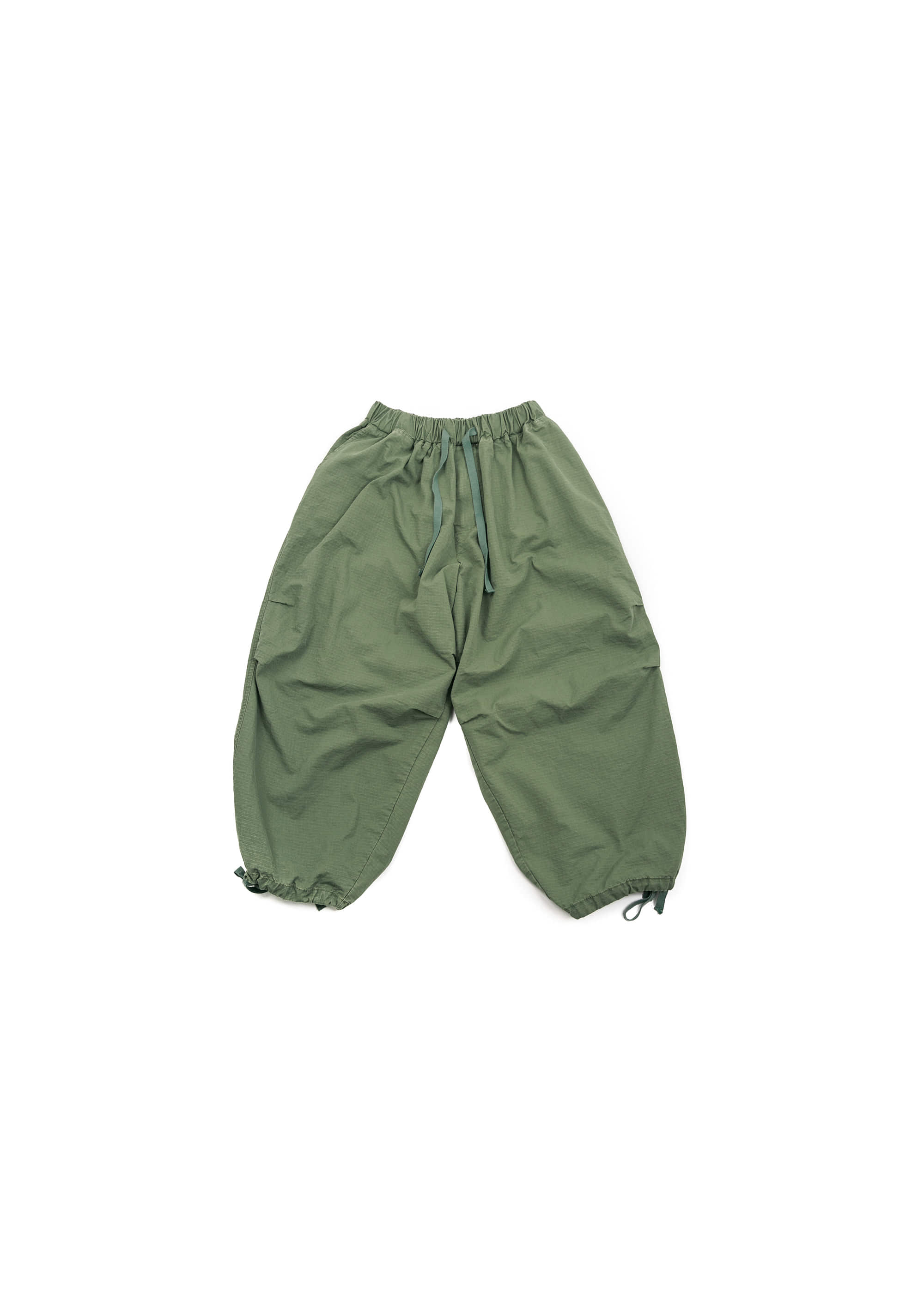 Rib Army Balloon Pants - Khaki