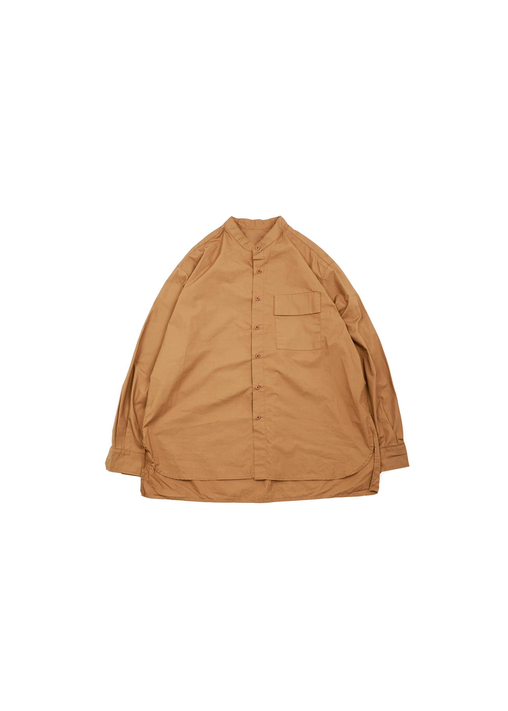 Henly Neck Over Shirts - Brick