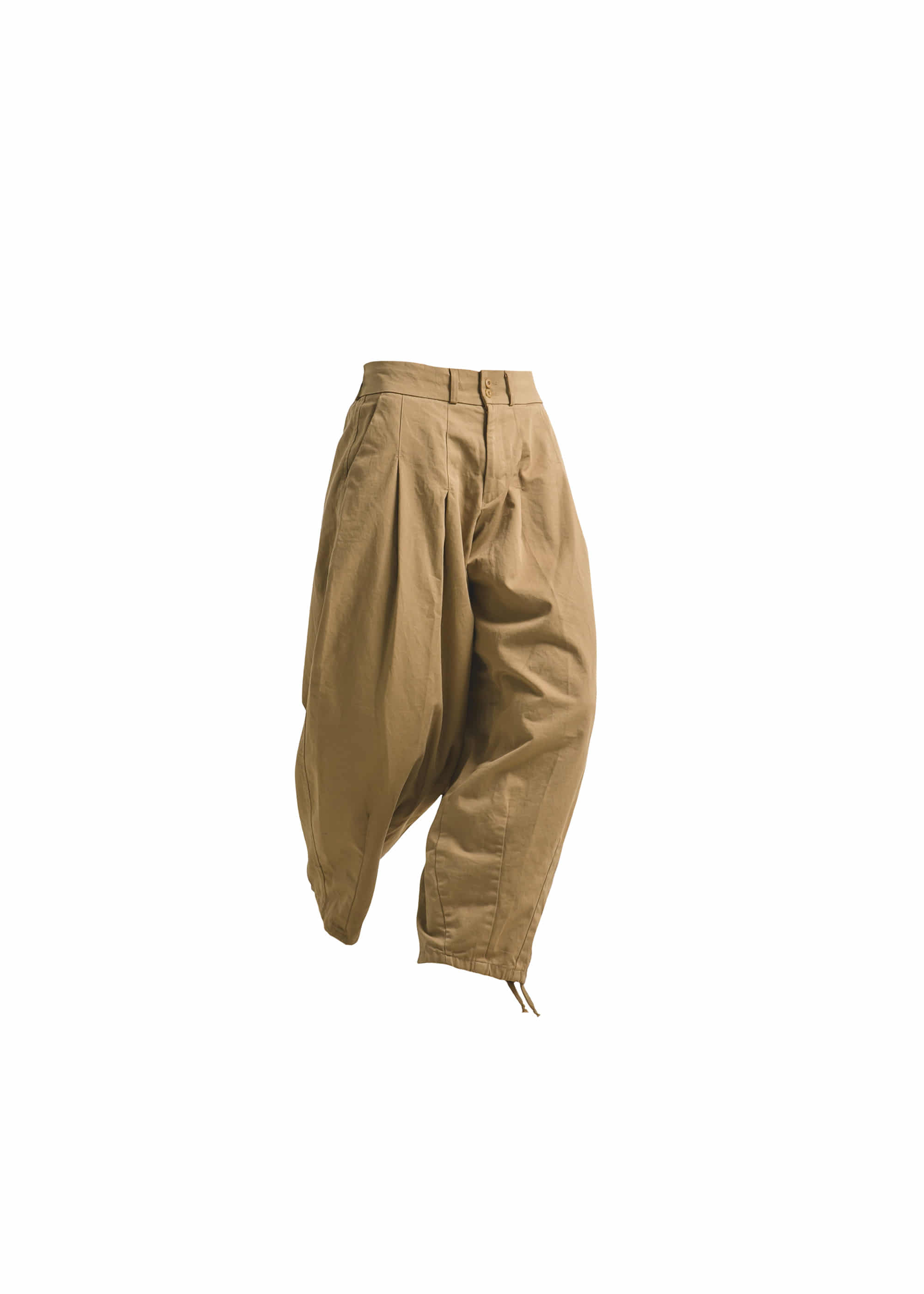 [AG] Cotton Easy Balloon Pants - Beige