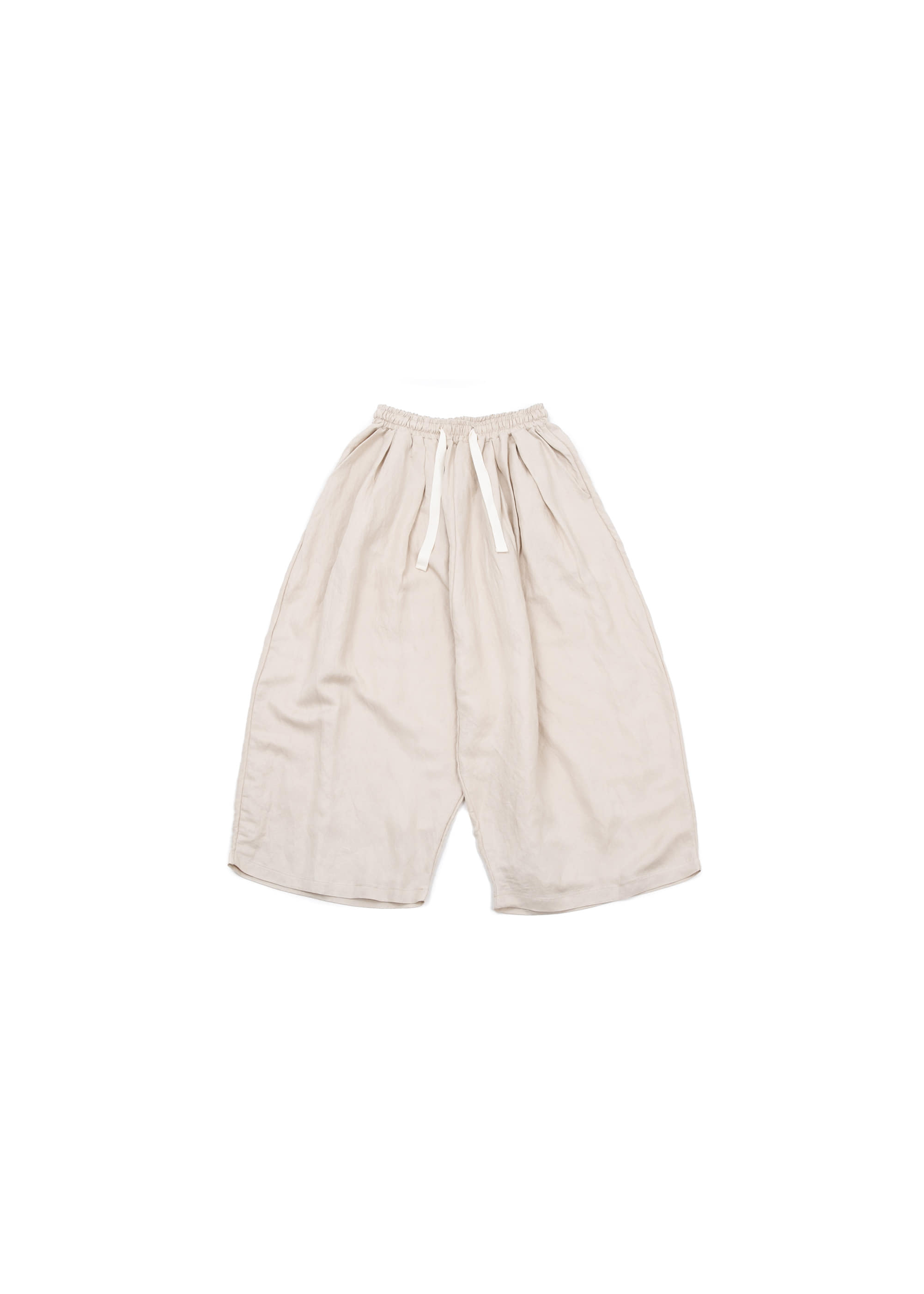 Linen Wide Pants - Beige