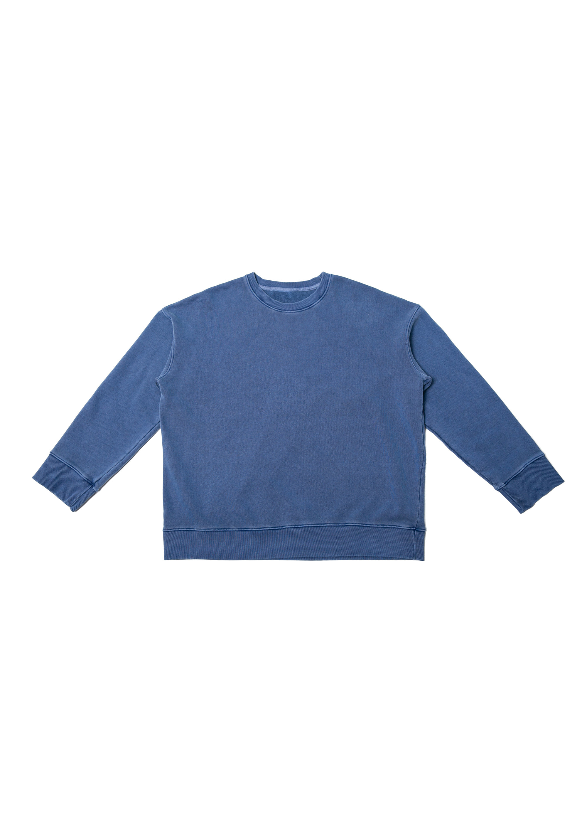 Garment dyed Over Sweat Shirts - Blue
