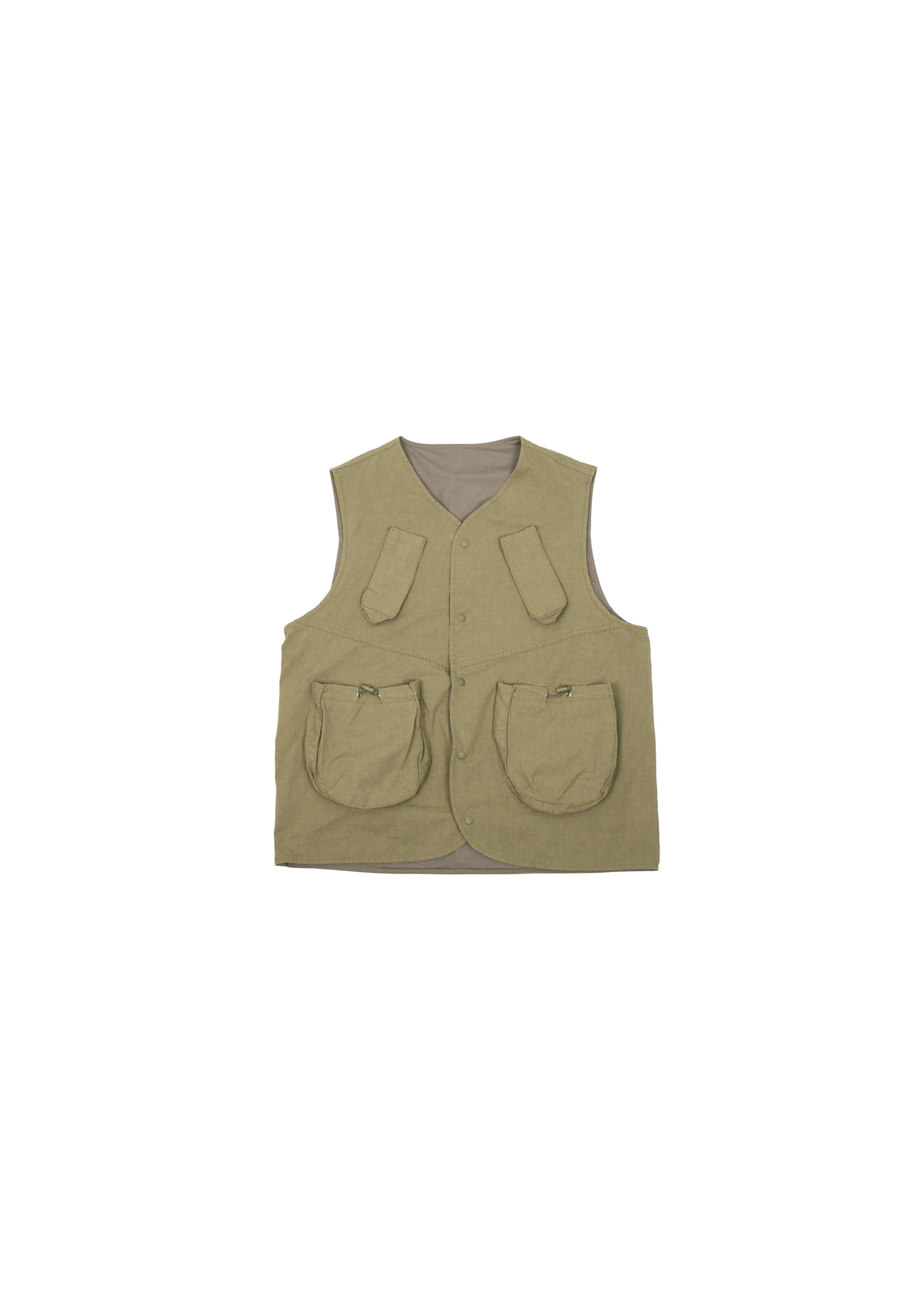 Military String Pocket Vest - Khaki